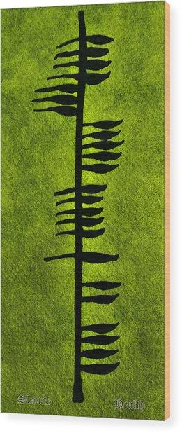 Irish Ogham Meaning Health Wood Print