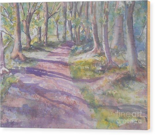 Irish Woods Wood Print by Patricia Pushaw