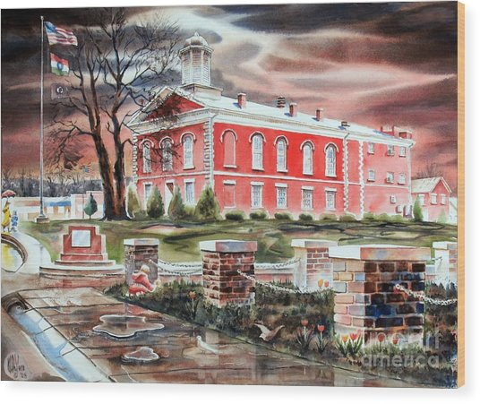 Iron County Courthouse No W102 Wood Print by Kip DeVore