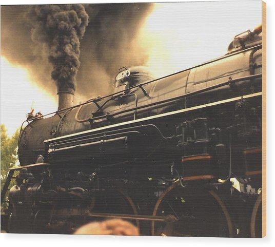 Iron Horse Wood Print