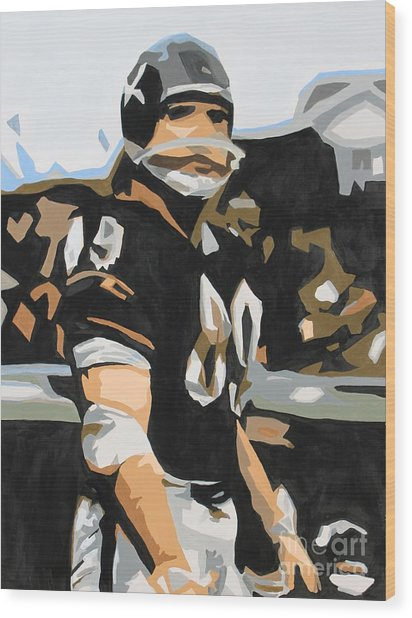 Iron Mike Ditka Wood Print