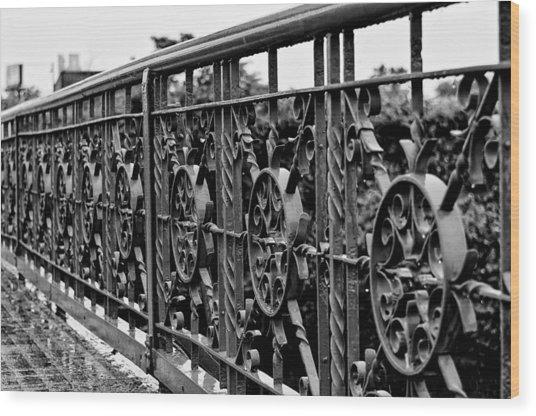 Iron Work Wood Print