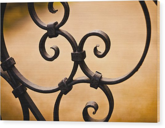 Ironwork Abstract Wood Print