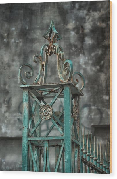 Ironwork In The Quarter Wood Print