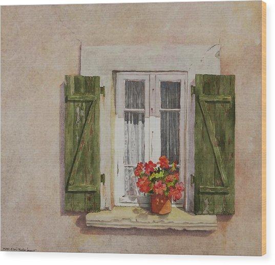 Irvillac Window Wood Print