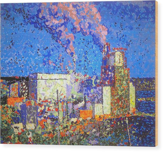 Irving Pulp Mill II Wood Print