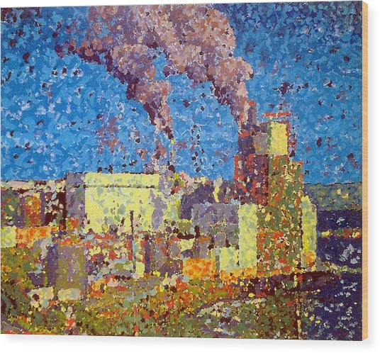 Irving Pulp Mill Wood Print
