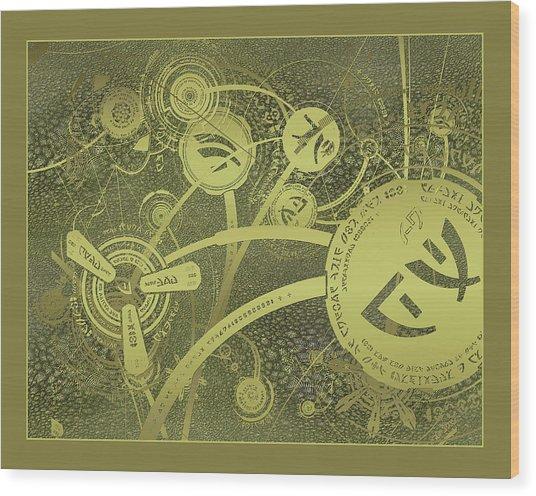 Isaac Caret Texture Wood Print