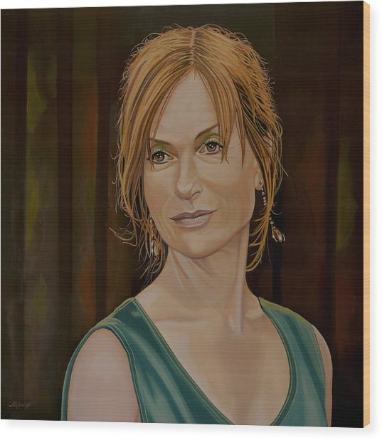 Isabelle Huppert Painting Wood Print