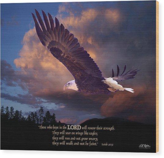 Isaiah 40 31 Wood Print