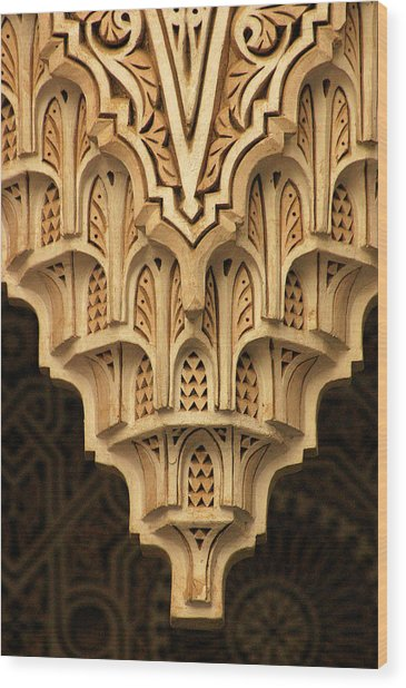 Islamic Plaster Work Wood Print by PIXELS  XPOSED Ralph A Ledergerber Photography
