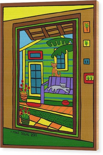 Island Arts Garden - Cedar Key Wood Print