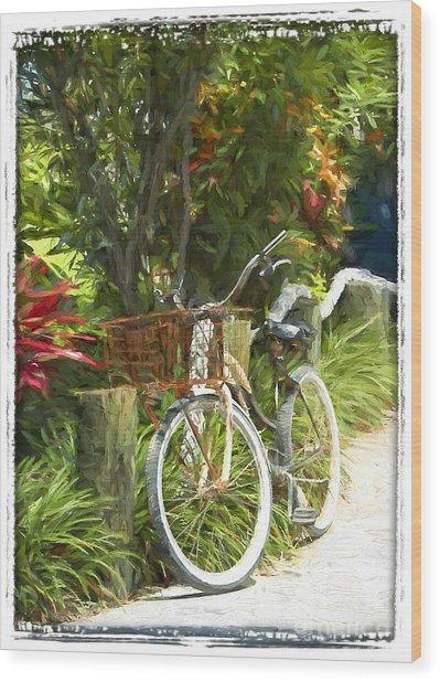 Island Bike Wood Print