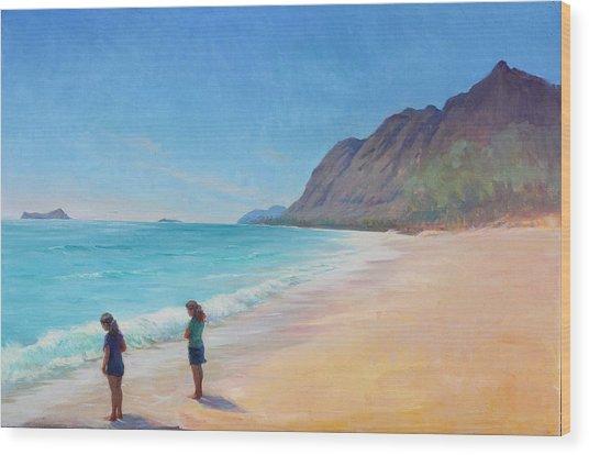 Island Breeze Wood Print by Gwen Carroll