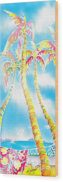 Island Breeze Wood Print