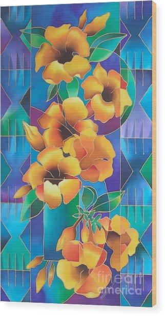 Island Flowers - Allamanda Wood Print