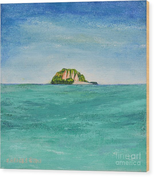 Island For Two Wood Print