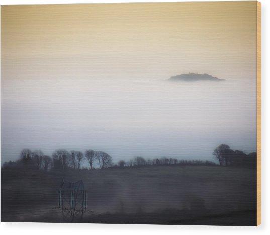 Island In The Irish Mist Wood Print