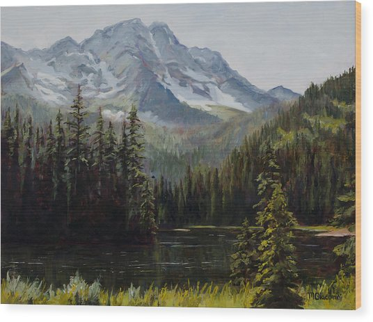 Island Lake Wood Print