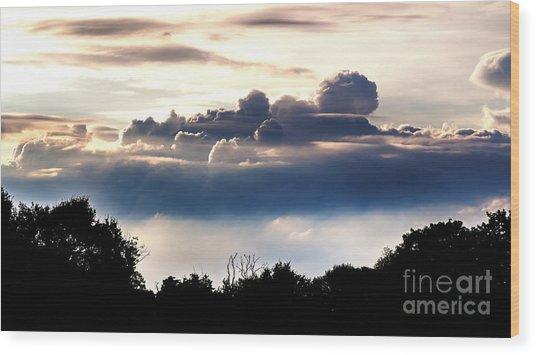 Island Of Clouds Wood Print