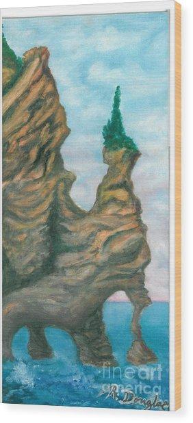 Island Right Wood Print