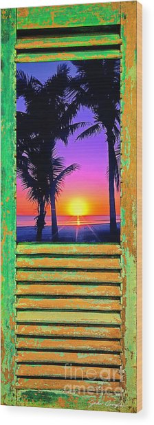 Island Shutter Wood Print