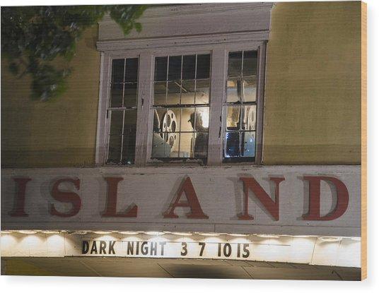 Island Theater Wood Print