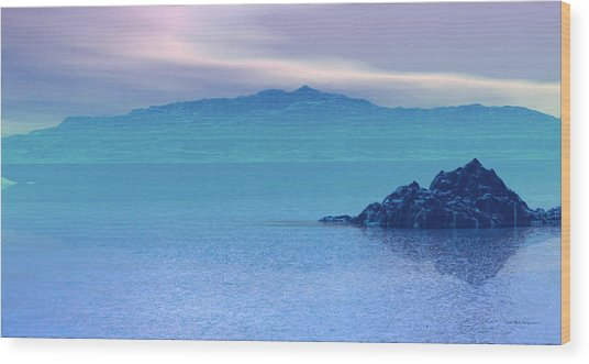 Islands In The Mist Wood Print