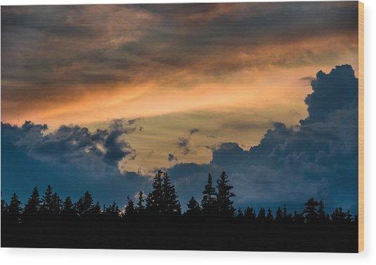 Isle Au Haut Sunset Wood Print