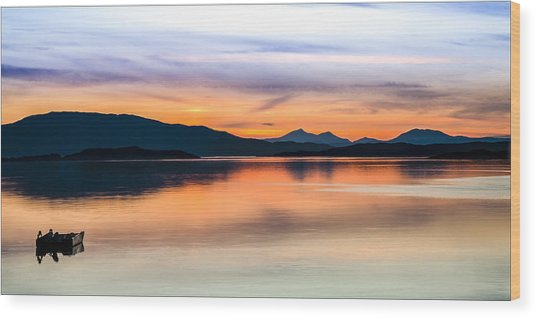 Sunset Isle Of Jura Scotland Wood Print