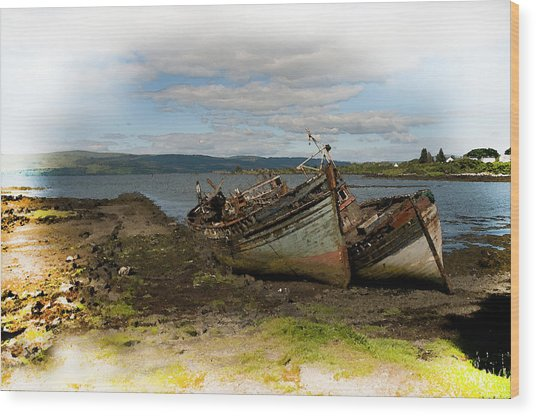 Isle Of Mull Boats Wood Print