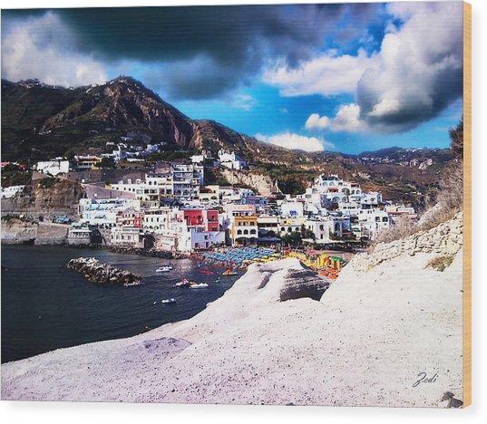 Isola Di Ischia Sant'angelo - The Island Of Ischia Sant'angelo Wood Print