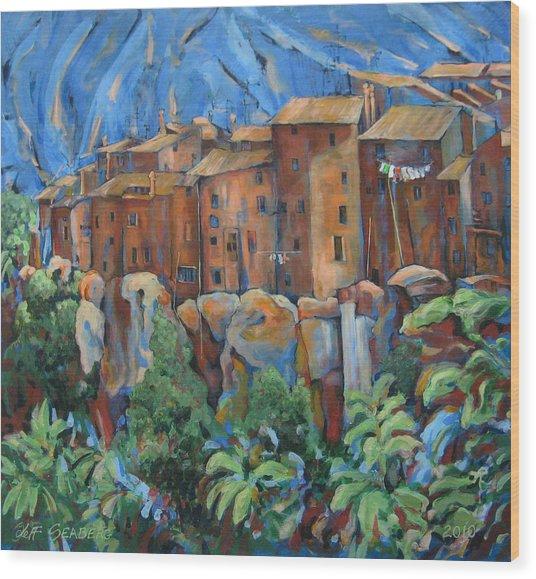 Isola Di Piante Large Italy Wood Print