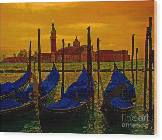 Isola Di San Giorgio Maggiore In Venice Wood Print