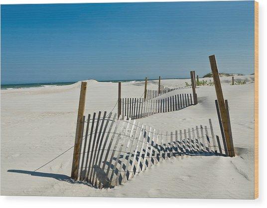 Isolated Dunes Wood Print