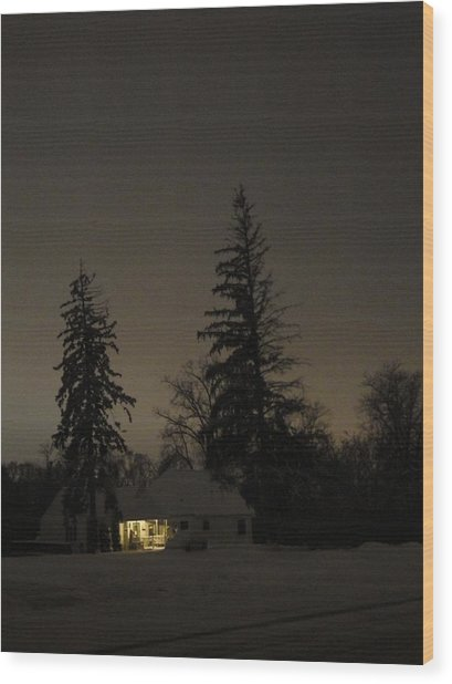 Isolated House Wood Print by Guy Ricketts
