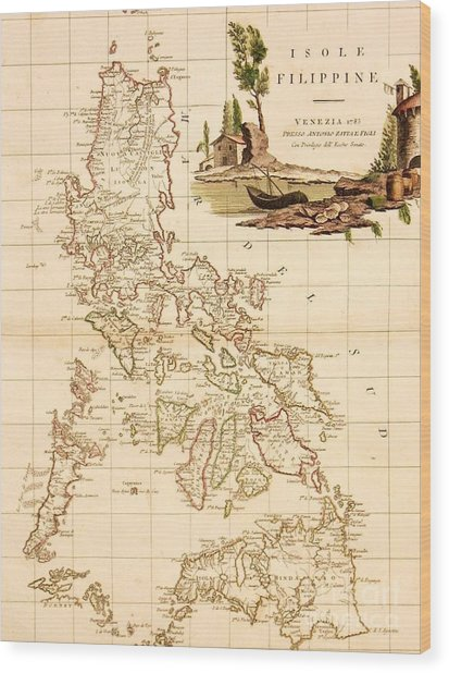Isole  Filippine Wood Print by Pg Reproductions