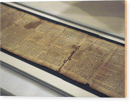 Israel Museum Displays Dead Sea Scrolls Wood Print by Lior Mizrahi