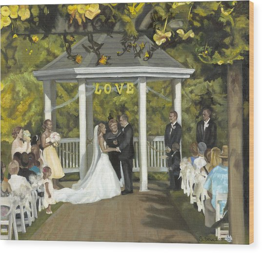 Issaquah Wedding  Wood Print