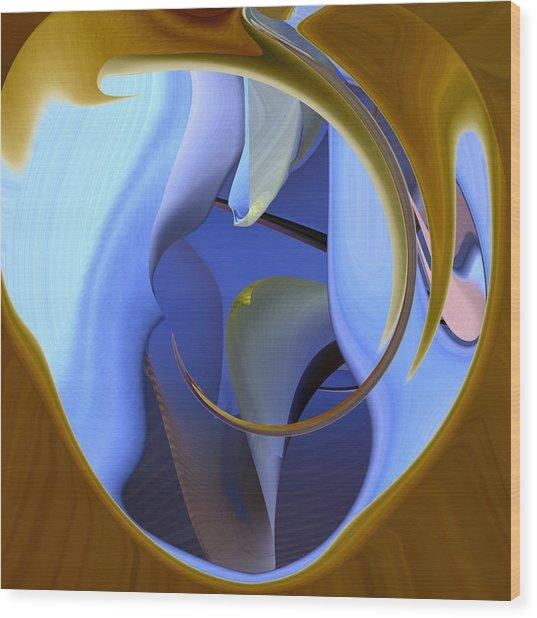 It Is Blue Inside Wood Print