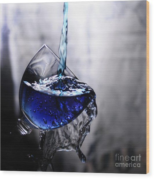 It Is Blue Wood Print