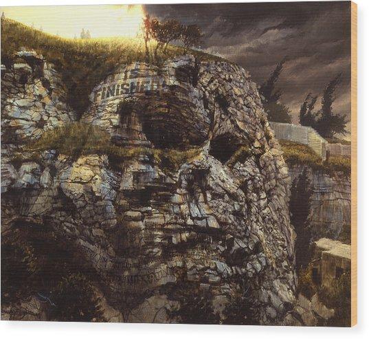 It Is Finished Calvary Jerusalem Wood Print