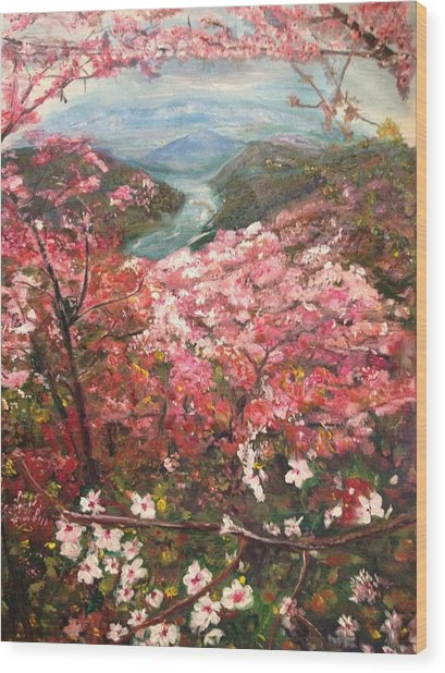 It Is Spring Everyday Wood Print