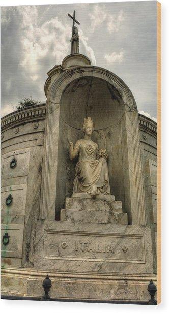 Italian  Benevolent Society Tomb Wood Print
