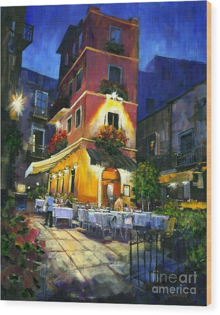 Italian Nights Wood Print