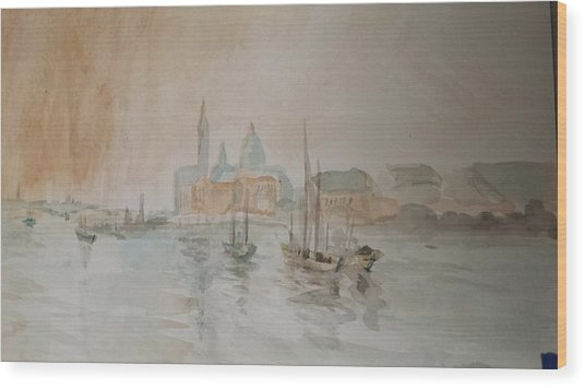 Italian Seaport Wood Print