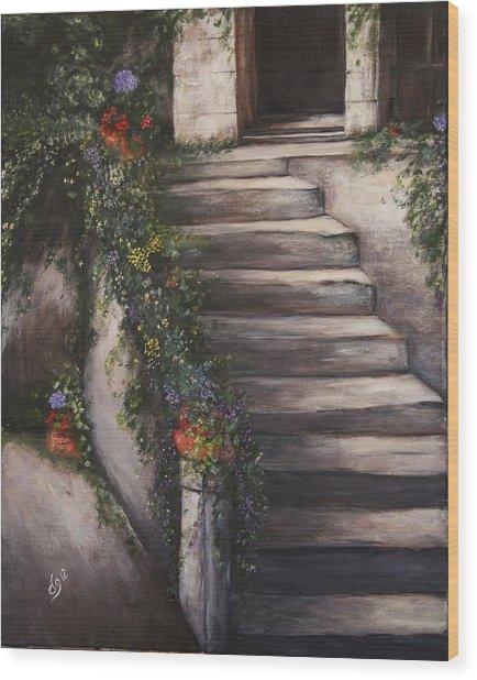 Italian Steps Wood Print