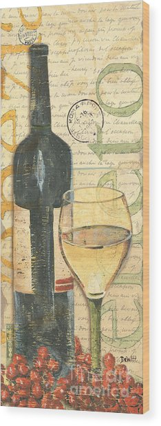 Italian Wine And Grapes 1 Wood Print