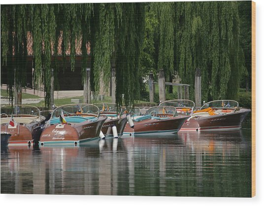 Riva Wooden Runabouts Wood Print