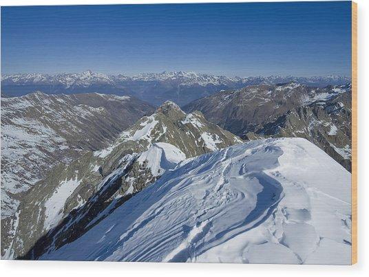 Italy Alps Wood Print by Ioan Panaite